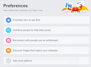 A screenshot of the See First feature. One way to make sure your followers on Facebook see posts form your business page.