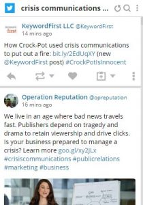 Use social listening for early warning for your crisis communications plan