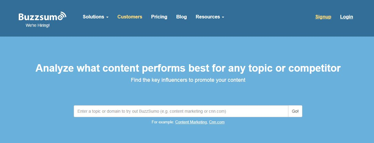 Buzzsumo shows you the most shared content for your search term