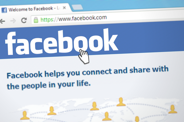 Image of Facebook login screen with cursor