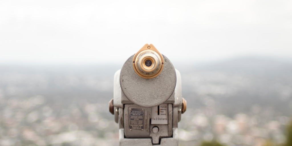 A telescope to illustrate online search